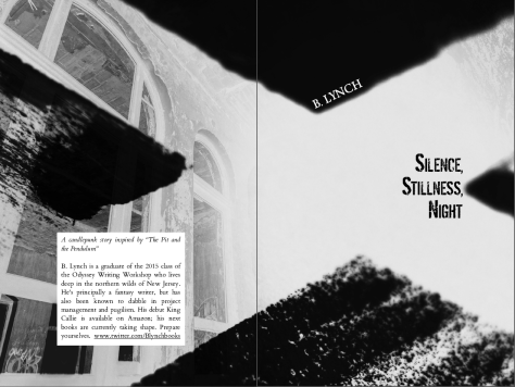 2 page spread silence stillness night