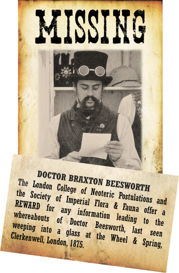 Doctor Braxton Beesworth Missing Poster