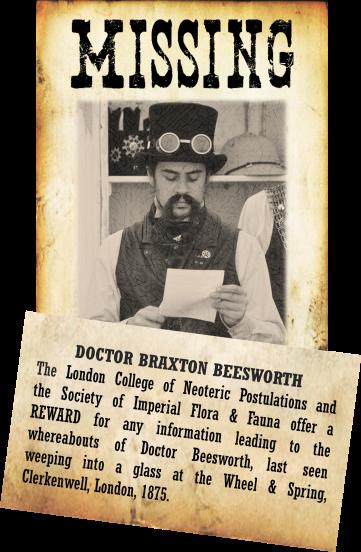 Doctor Braxton Beesworth Missing Poster