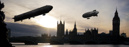 London of Yore. (London Sunset, Nick Page CC2/Airship R26, Harwich & Dovercourt, CC2/Airship B&W, Plaisanter, CC2)